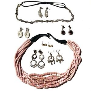 Feel beautiful lot of accesories w/Napier earrings